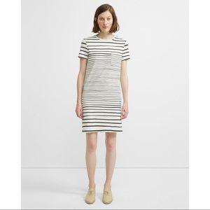 Continuous Stripe Pocket T-shirt Dress